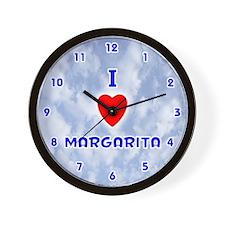 I Love Margarita (Blue) Valentine Wall Clock