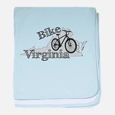 Bike Virginia baby blanket