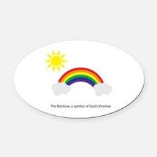 Cute Promise Oval Car Magnet