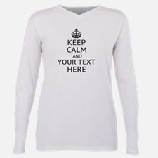 Custom keep calm Plus Size Long Sleeve Tee
