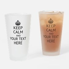 Custom keep calm Drinking Glass