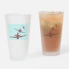 Dog Fight Drinking Glass