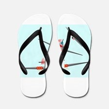 Dog Fight Flip Flops