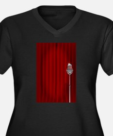 Stand Up Night Curtain Plus Size T-Shirt