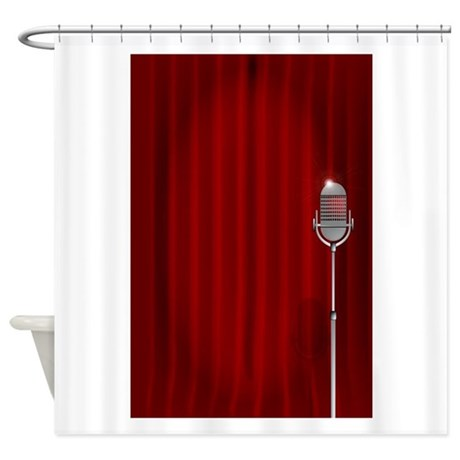 Stand Up Night Curtain Shower Curtain
