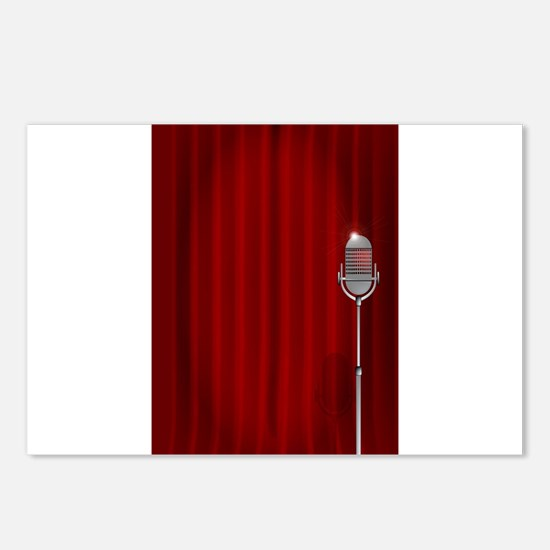 Stand Up Night Curtain Postcards (Package of 8)
