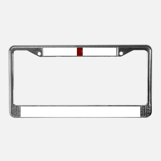 Stand Up Night Curtain License Plate Frame