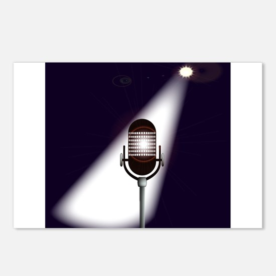 Retro Microphone Postcards (Package of 8)