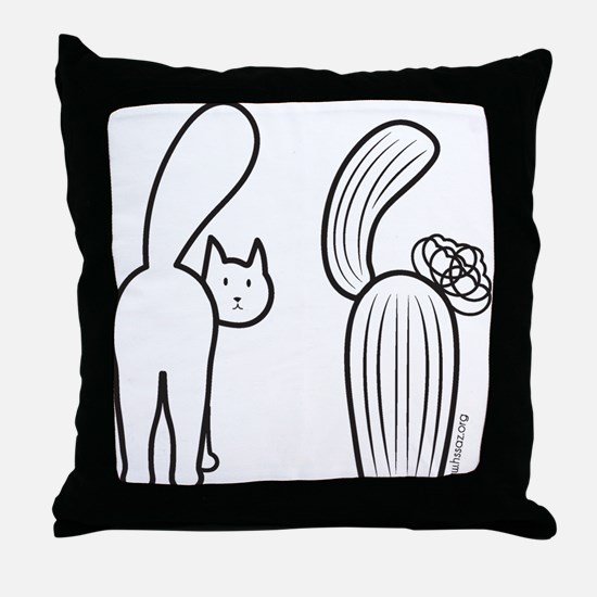 Cat catus Throw Pillow
