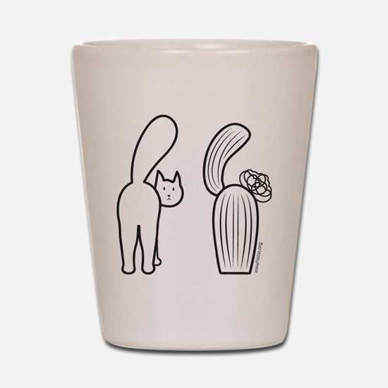 Cat catus Shot Glass