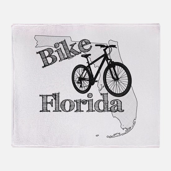 Bike Florida Throw Blanket