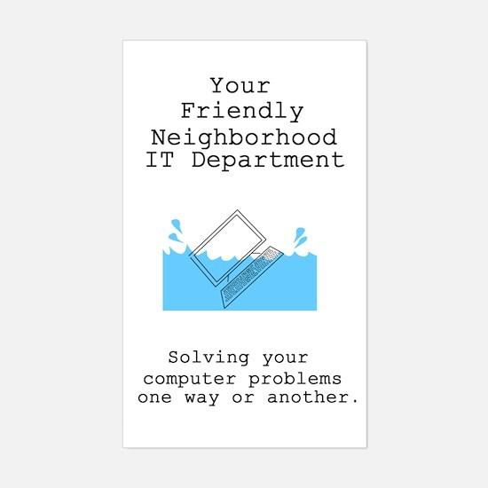 Your Friendly Neighbhood IT D Sticker (Rectangular