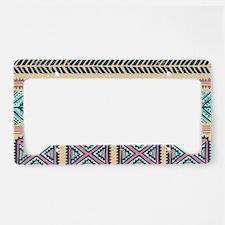 Tribal Pattern License Plate Holder