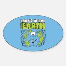 Friend of the Earth Sticker (Oval)
