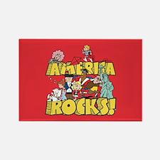 America Rocks Rectangle Magnet
