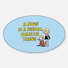 Noun, Person, Place, Thing Sticker (Oval)