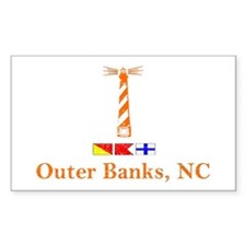 Hatteras Lighthouse Rectangle Decal