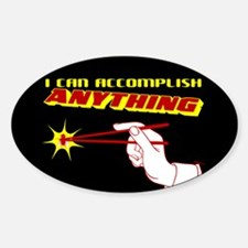Cool Action movie Sticker (Oval)