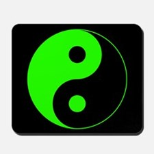 Green Yin Yang Symbol Mousepad