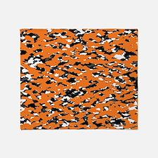 Camouflage: Orange I Throw Blanket