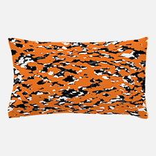 Camouflage: Orange I Pillow Case