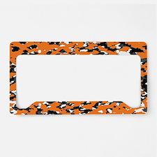 camouflage orange i license plate holder