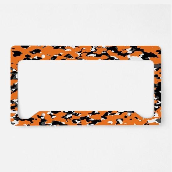 Camouflage: Orange I License Plate Holder