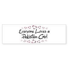 Pakistan Girl Bumper Bumper Sticker