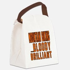 Mountain Biking Bloody Brilliant Canvas Lunch Bag