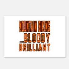 Mountain Biking Bloody Br Postcards (Package of 8)