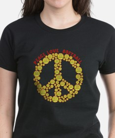 peacelovesoftballw T-Shirt