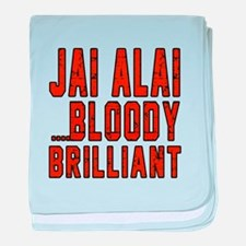 Jai Alai Bloody Brilliant Designs baby blanket