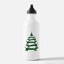 Dachshund Christmas Tr Water Bottle