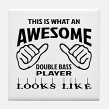 This is what an awesome Double Bass p Tile Coaster