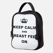 KEEP CALM AND BREAST FEED ON Neoprene Lunch Bag