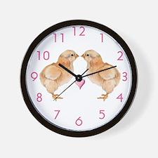 Baby Chick Love Wall Clock