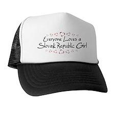 Slovak Republic Girl Trucker Hat
