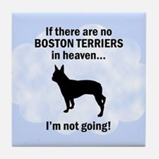 Boston Terriers In Heaven Tile Coaster