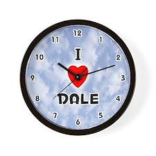 I Love Dale (Black) Valentine Wall Clock