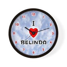 I Love Belinda (Red/Blk) Valentine Wall Clock