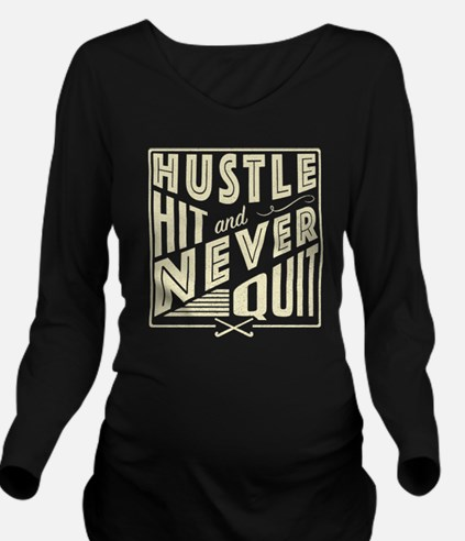 Field Hockey Hustle Hit & Never Quit Long Sleeve M