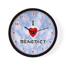 I Love Benedict (Red/Blk) Valentine Wall Clock