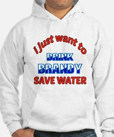 I just want to drink Brandy Hoodie Sweatshirt