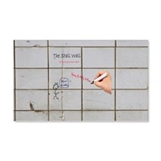Gray Bathroom Graffiti Stall Wall Decal