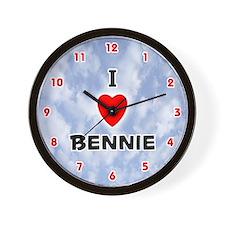 I Love Bennie (Red/Blk) Valentine Wall Clock