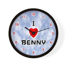 I Love Benny (Red/Blk) Valentine Wall Clock