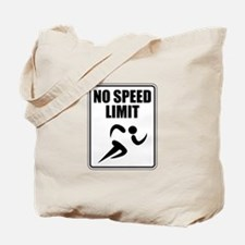 No Speed Limit Runner Tote Bag