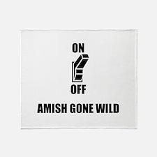 Amish Gone Wild Throw Blanket