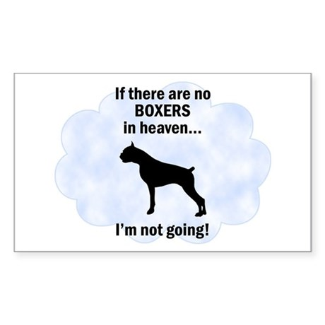 Boxers In Heaven Rectangle Sticker