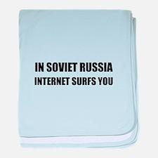 Soviet Russia Internet Surfs You baby blanket